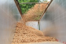Delivery of wood chips